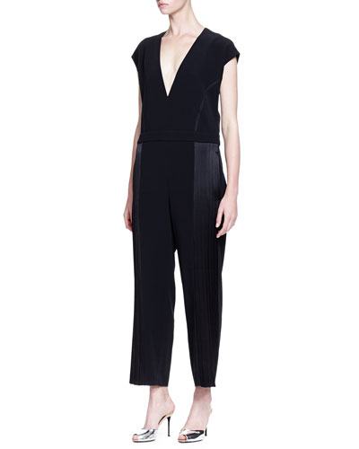 Short-Sleeve Jumpsuit W/ Side Seam Detail