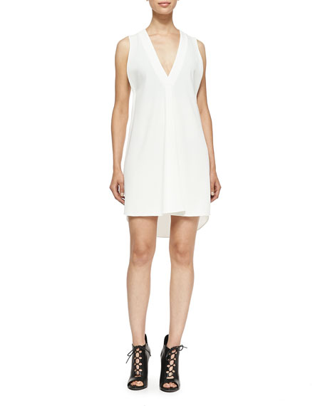 Derek Lam 10 Crosby Sleeveless V-Neck Dress W/