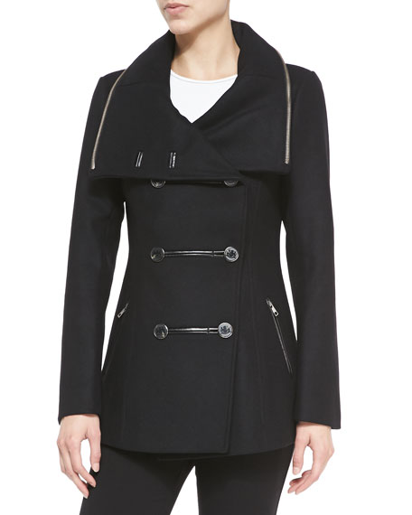 Milly Double-Breasted Peacoat