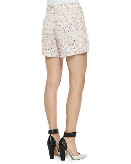 Wide-Leg Floral Shorts