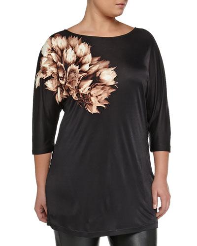 Vaso Floral-Print Tunic, Women's