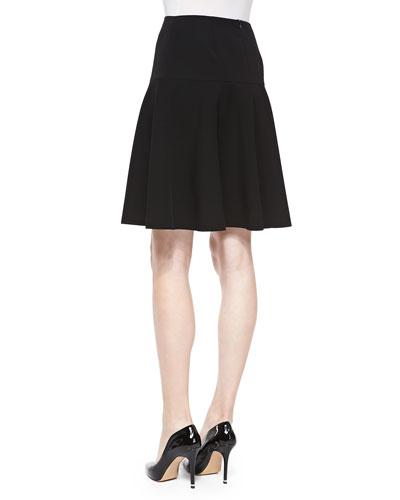 Yoke Waist Black V Skirt 84