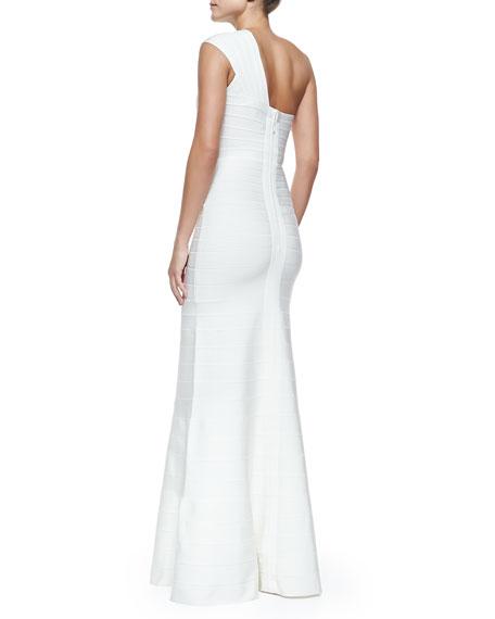 One-Shoulder Bandage Mermaid Gown