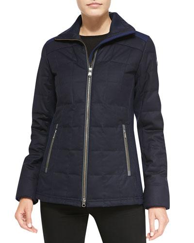 Sable Quilted Zip Jacket