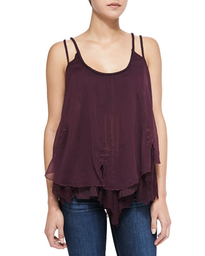 Wear It For Love Sleeveless Ruffle-Hem Top