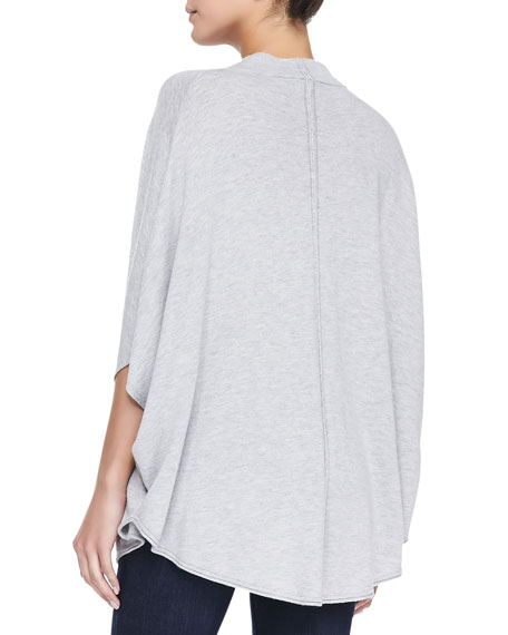 Splendid Cowl-Neck Poncho Top W/ Cape Sleeves
