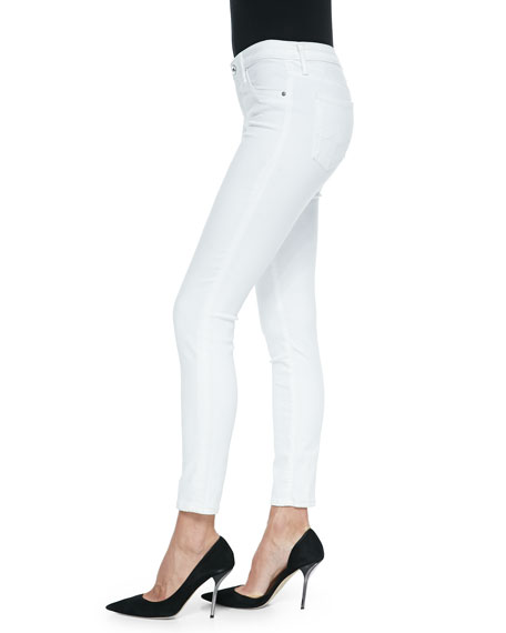 Ag 'the legging' skinny ankle jeans (white white)
