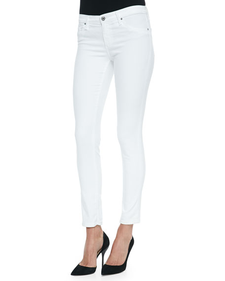 cropped super skinny jeans - White AG - Adriano Goldschmied Manchester Great Sale Cheap Price Discount New Recommend For Sale Buy Cheap Low Shipping Cheap Sale Find Great 3IVXt6Q14