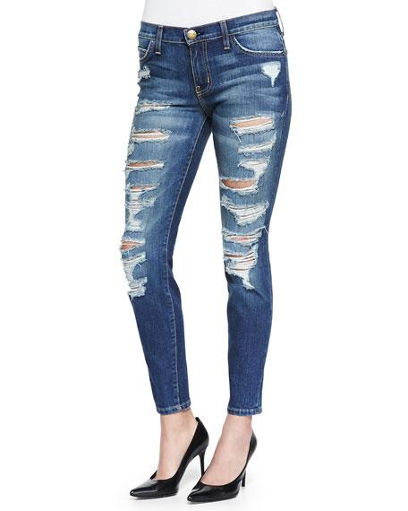 The Stiletto Skinny Cropped Jeans, Bennett Tattered