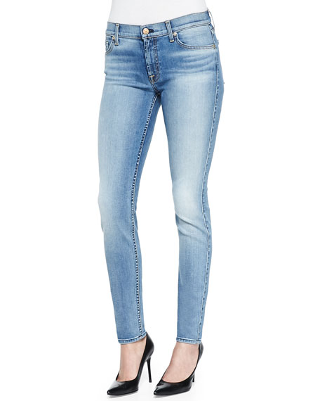 Slim Illusion Skinny Jeans W/ Contouring, Blue