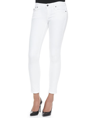 Casey Low-Rise Super Skinny Jeans, Optic White