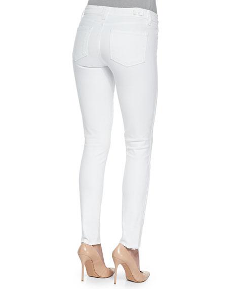 Verdugo Ankle Jeans W/ Raw Cuffs, Optic White