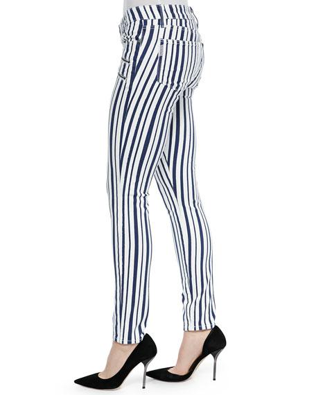 Edgemont Super Skinny Zip-Pocket Jeans, Cyprus Stripe