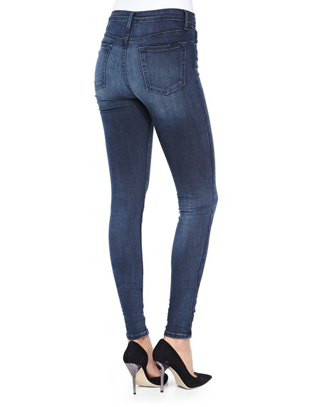 Joe's Jeans Alessia Flawless High-Rise Skinny Jeans, Blue/Black