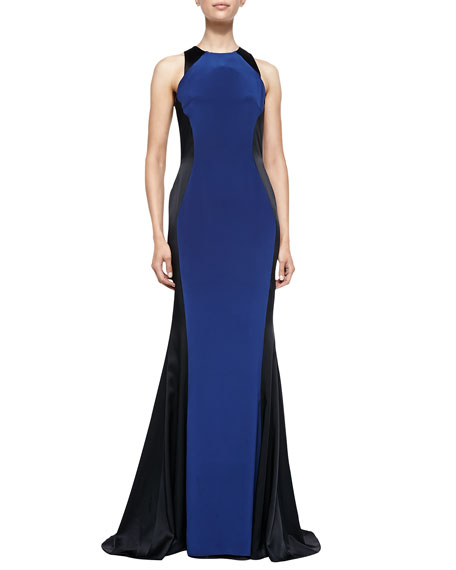 Helen Two-Tone Satin Gown