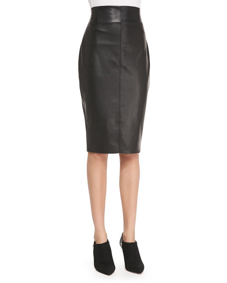 Bailey 44 High-Waist Faux-Leather Pencil Skirt