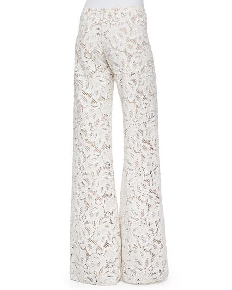 Alexis Jamie Wide-Leg Lace Pants