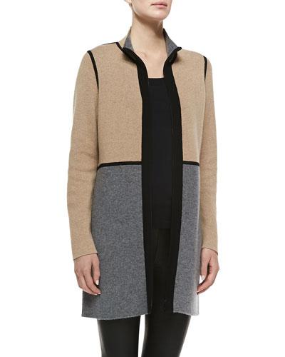 Belford Reversible Cashmere Double-Face Colorblock Coat