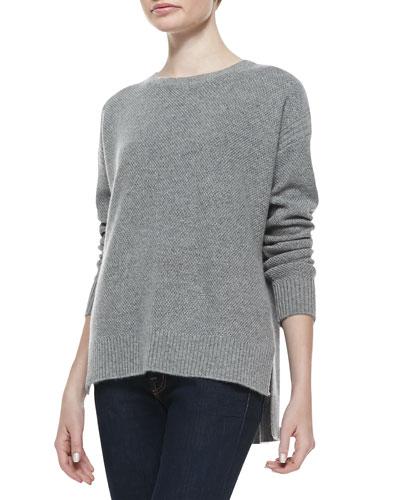 Crewneck High-Low Sweater