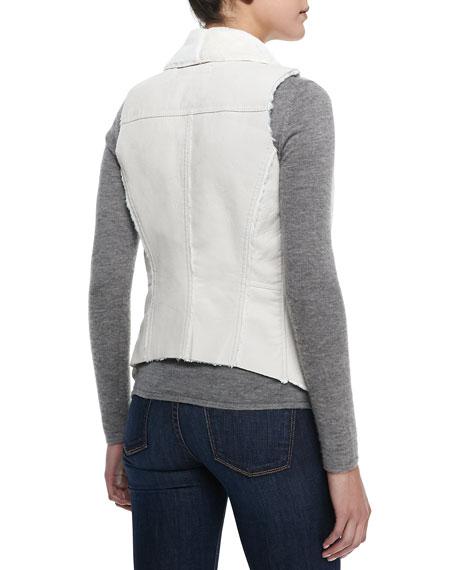 Blank Trooper Faux-Shearling Vest, White