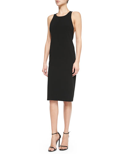 Thakoon Addition Sleeveless Fitted Dress W/ Twisted Back