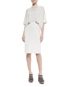 Brunello Cucinelli Dress W/ Popover Top Overlay