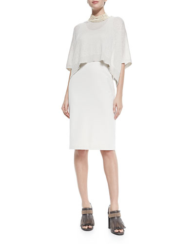 Brunello Cucinelli Dress W/ Popover Top Overlay