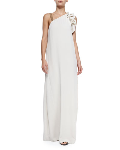 Brunello Cucinelli Shift Gown with One Monili Strap