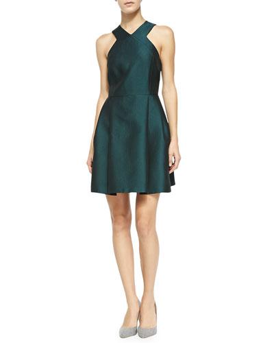 Tibi Simona Sleeveless V-Neck Dress