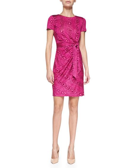 Zoe Grain Shadow Mock-Wrap Dress