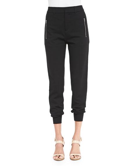 McQ Alexander McQueenJersey Zip-Pocket Ankle Pants