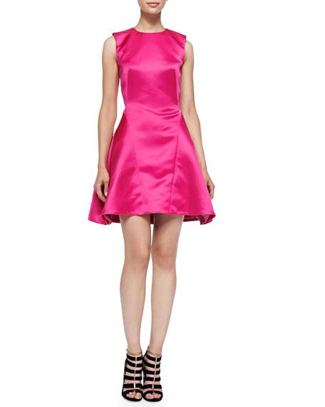 McQ Alexander McQueen Sleeveless Pleated Pouf Dress