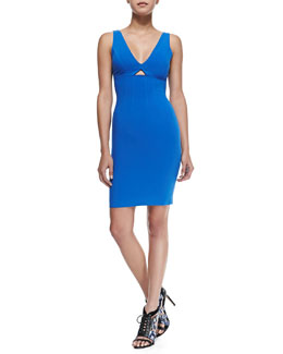 Yve Front-Cutout Fitted Dress