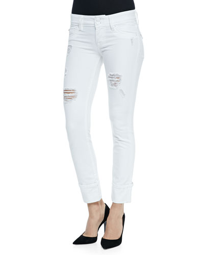 Ginny Cropped Distressed Jeans, Gateway