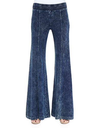 French Terry Wide-Leg Pants, Women's