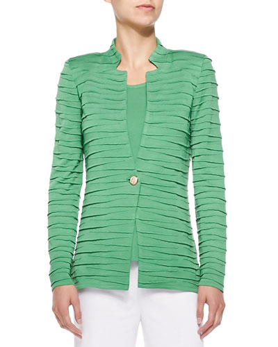 Sliced One-Button Jacket, Petite