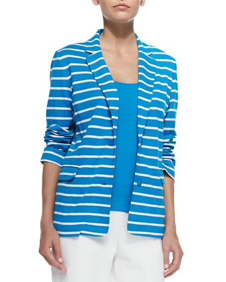 Joan Vass Striped Knit Jacket, Women's
