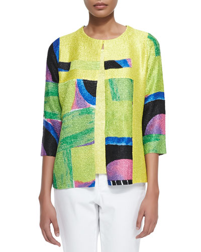 New Abstract Crinkle Jacket, Women's