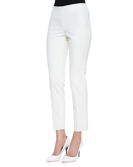 Lafayette 148 New York Stretch Wool Ankle Pants,