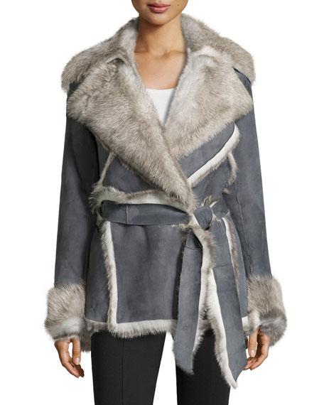 Cori Suede & Shearling Fur Coat