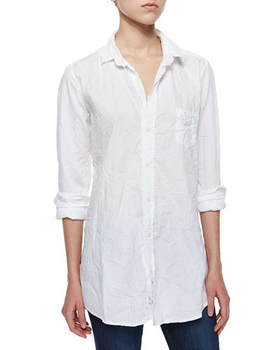 Shirley Crinkled Poplin Blouse