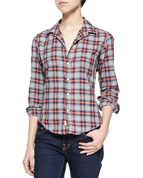 Limited Edition Button-Front Plaid Shirt