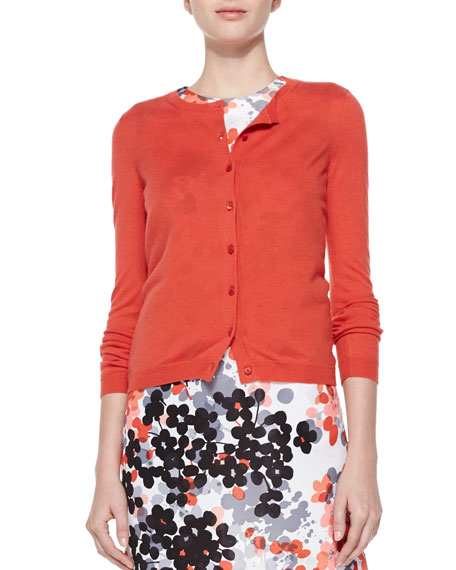Cashmere-Silk Cropped Cardigan - RED Valentino Cashmere-Silk Cropped Cardigan