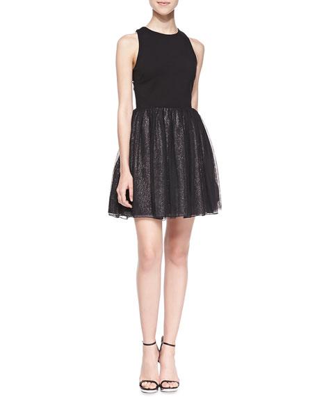 Greylin Vanessa Sleeveless Flared-Skirt Dress