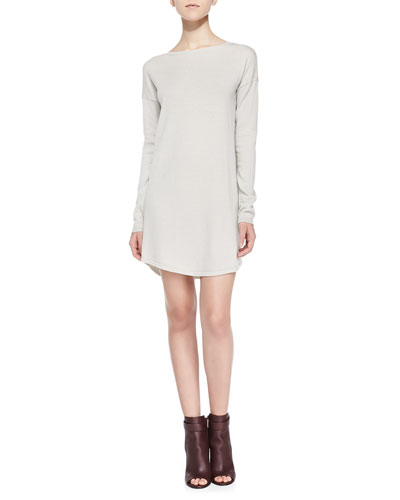 Sweaterdress W/ Dropped Sleeves