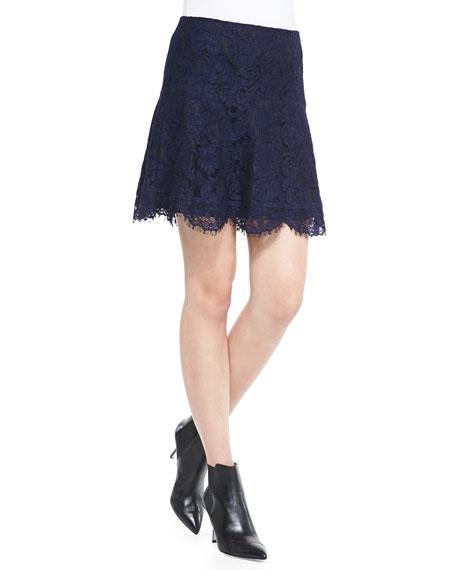 Two-Tone Lace Miniskirt