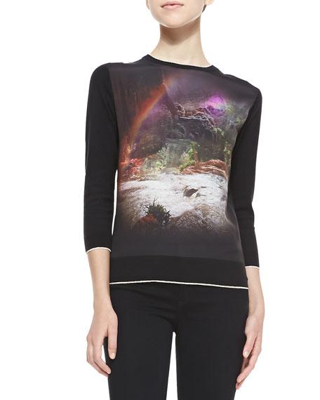 Bracha Waterfall Long-Sleeve Sweater