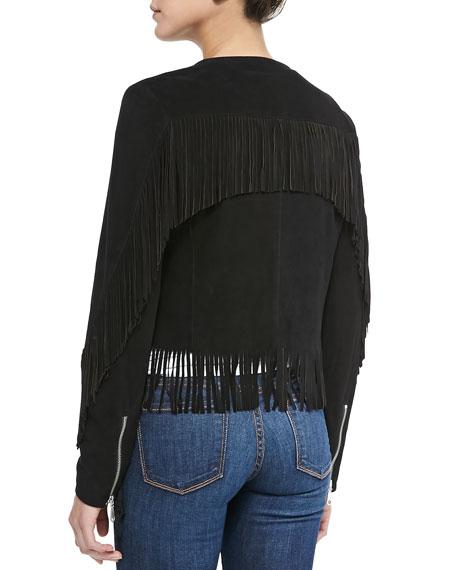 Rebecca Minkoff Stella Suede Jacket W/ Fringe
