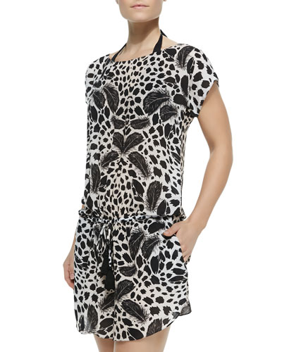 Jerome Short-Sleeve Printed Mini Dress