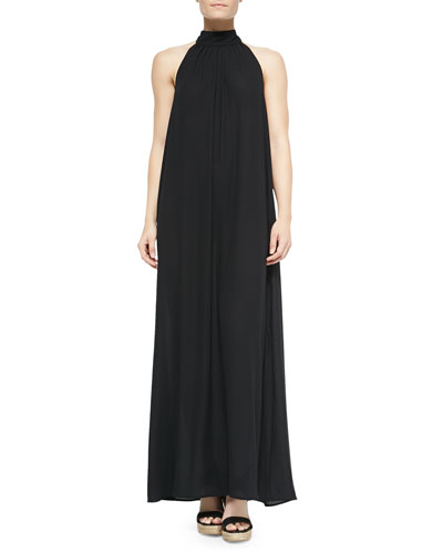 Turtleneck Tie-Back Coverup Maxi Dress